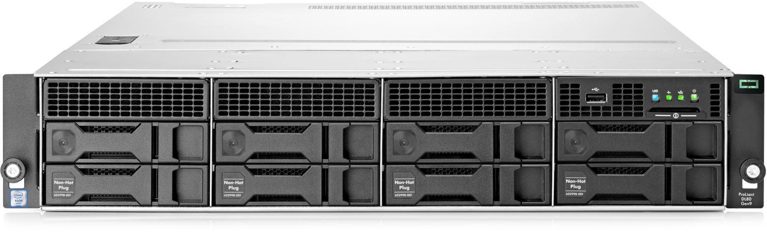 Сервер HP ProLiant DL80 Gen9 с 4 LFF non-Hot plug отсеками для жестких дисков