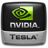 NVIDIA Tesla logo 3D