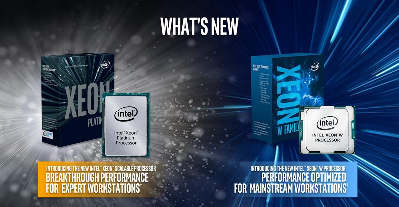 Позиционирование процессора Intel Xeon W (Skyake) в ряду процессоров Intel Xeon