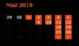 График работы компании STSS в мае 2019 года
