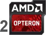 2 процессора AMD Opteron 6300